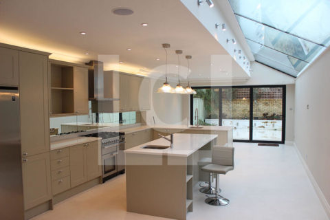 Kitchen interior and extension