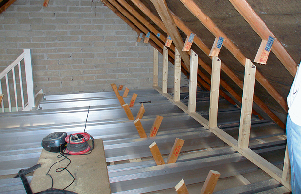 Joists in loft conversion