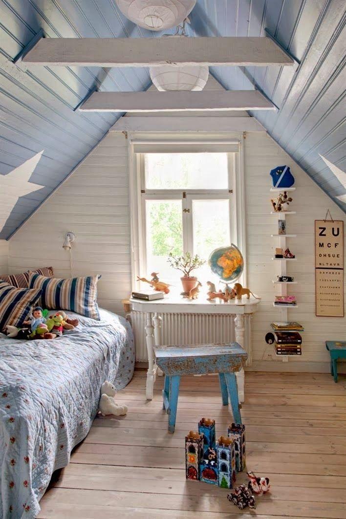 Eaves loft conversion for boys bedroom