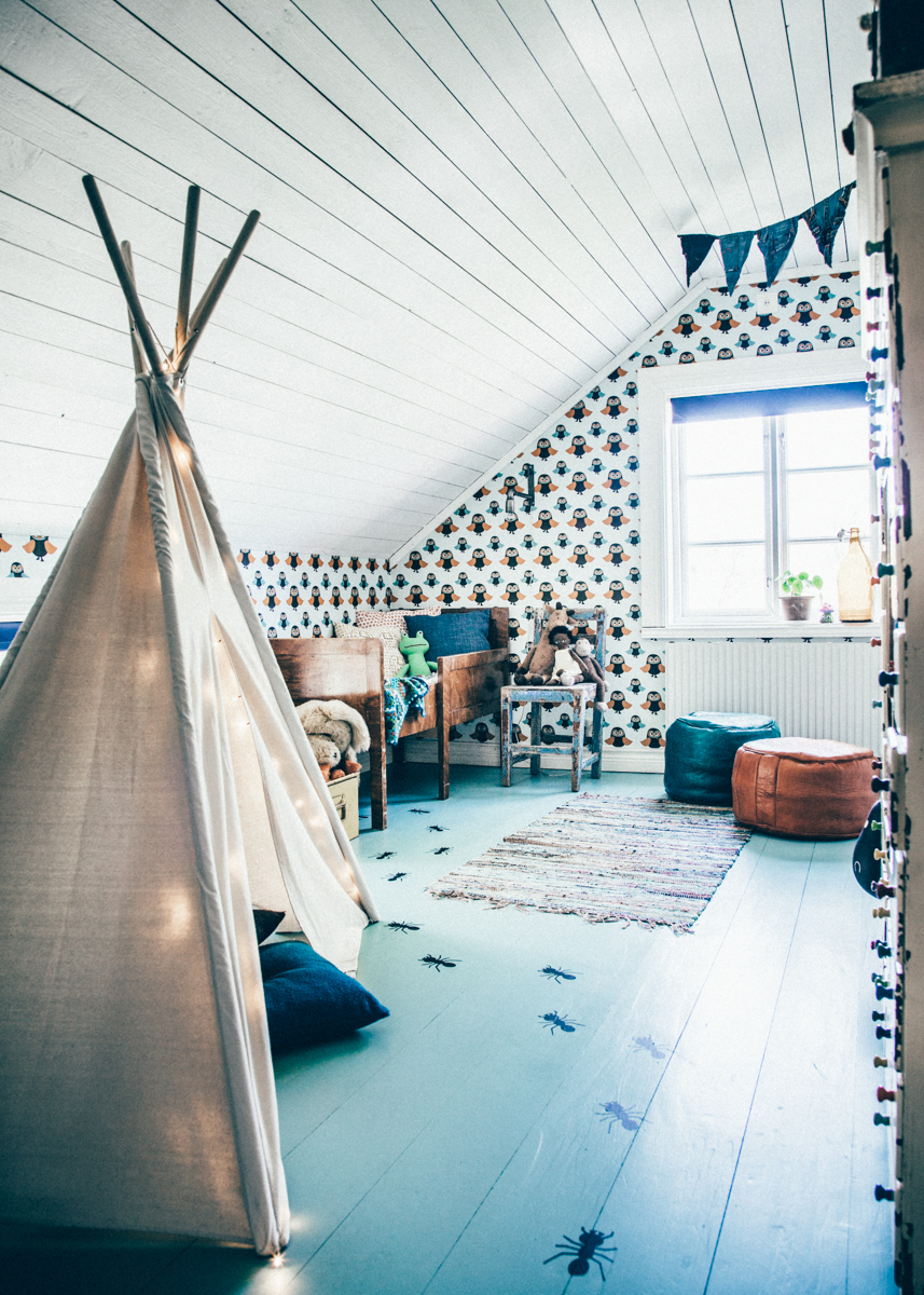 Via Living by CKK boys bedroom in attic