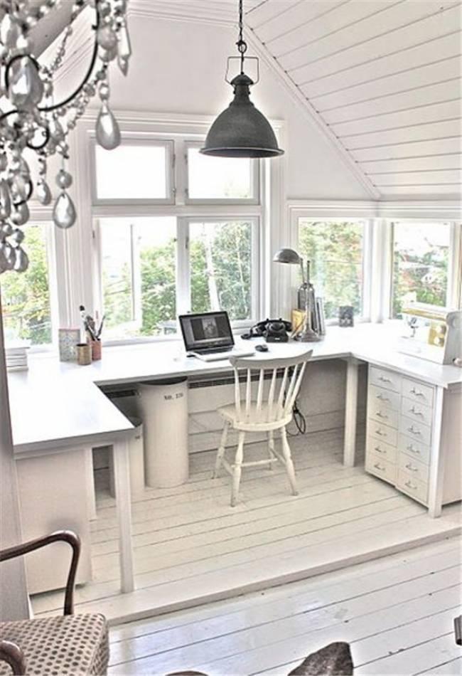 eave loft conversion office space
