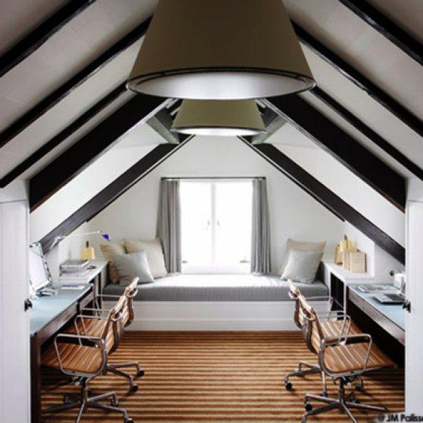 Small loft conversion attic office