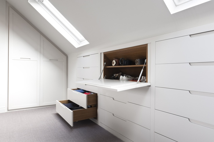 White and minimal loft conversion interior