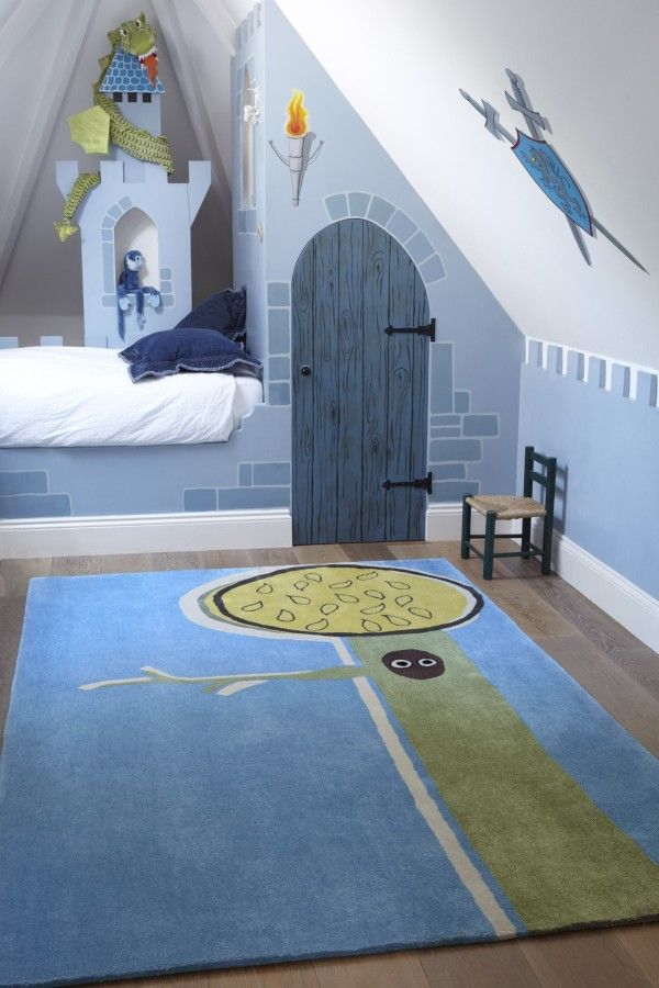 Boys bedroom in blue for young children