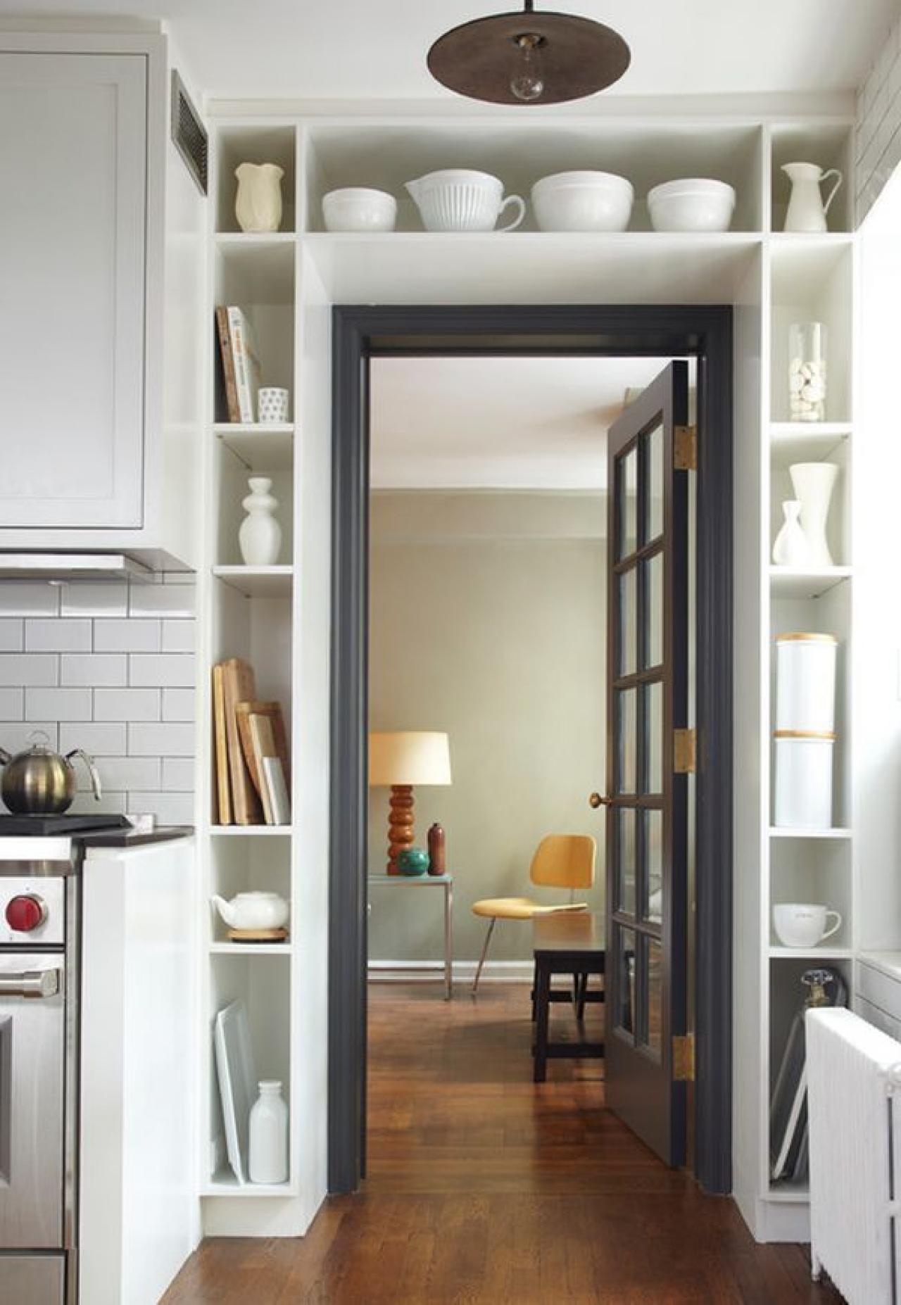 Storage around doorway