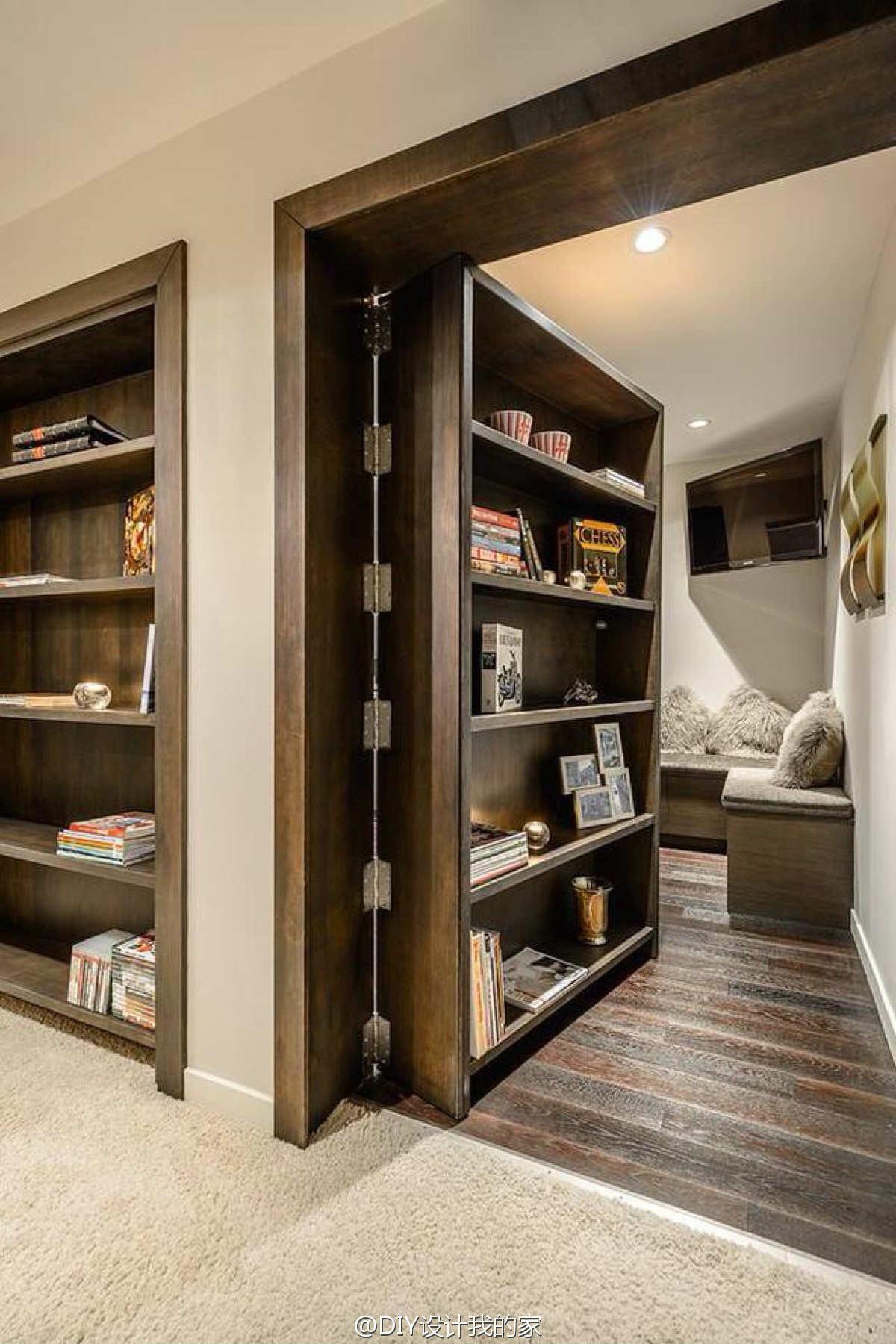 Wooden storage idea for loft
