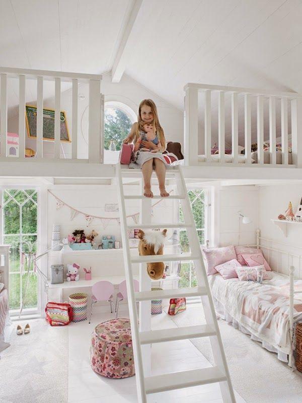 Mezzanine loft conversion girl bed