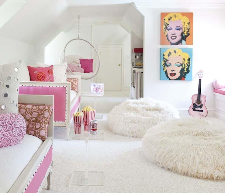 Loft conversion ideas for girls bedroom