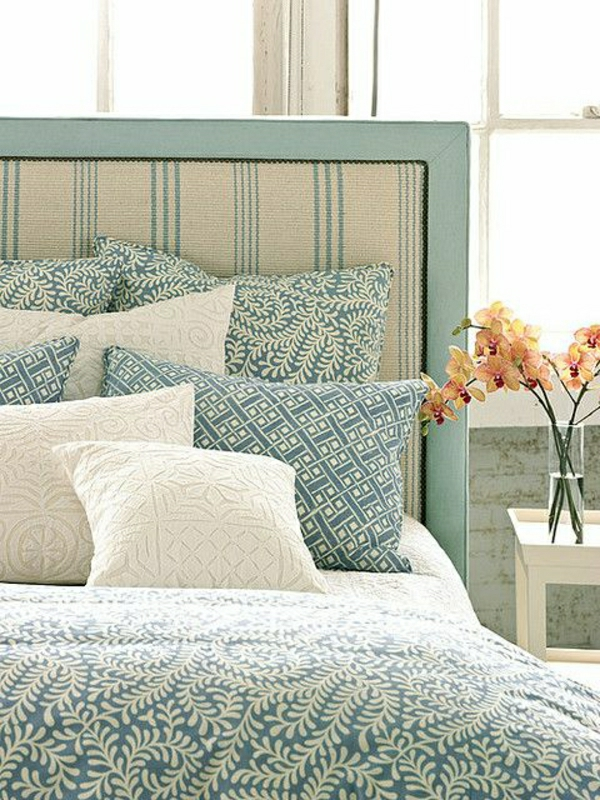 Detailed french bed headboard