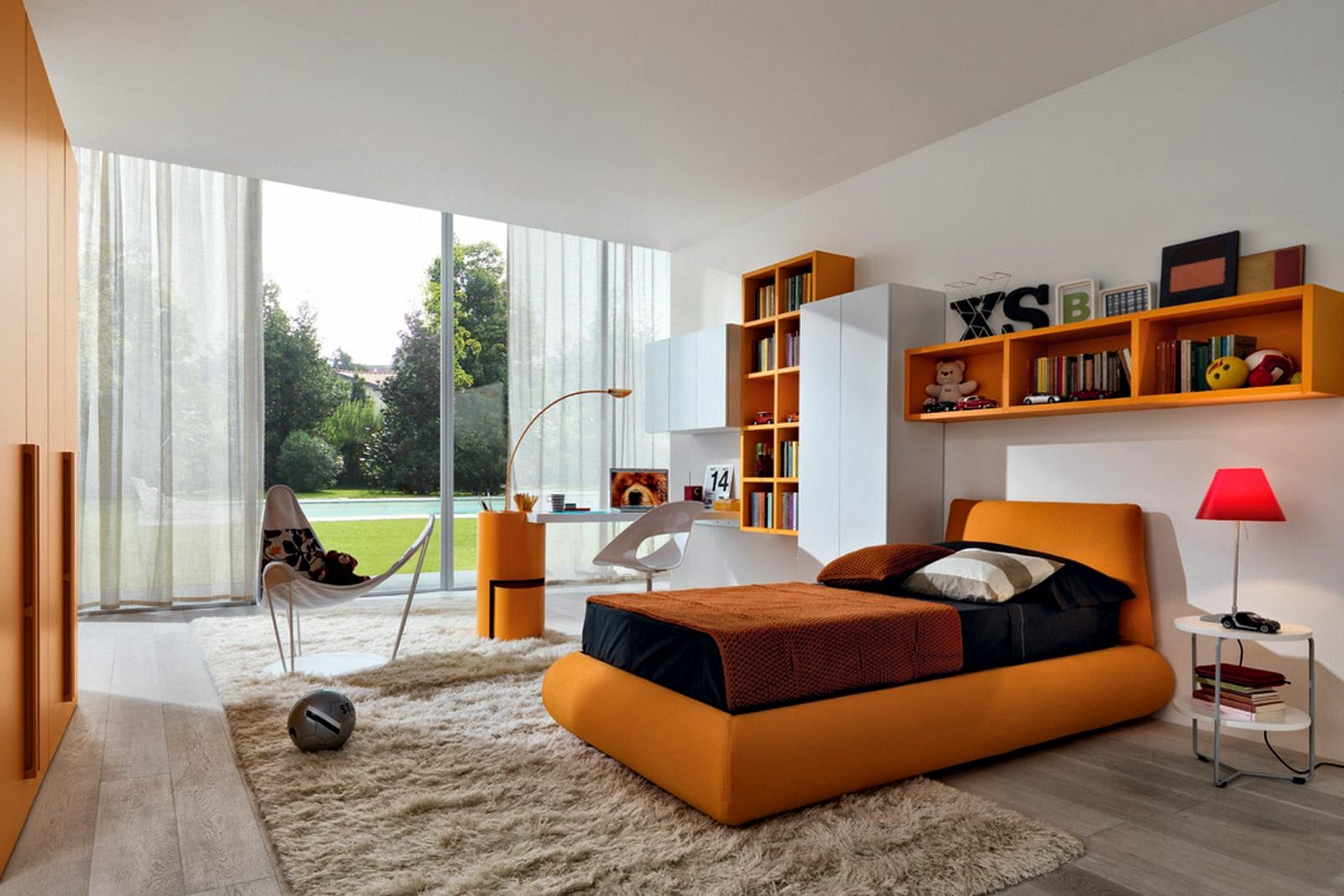 Orange bedroom inspiration for teen