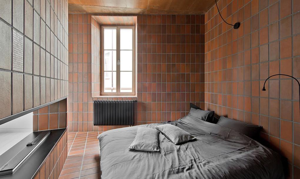 Terra Cotta walls bedroom