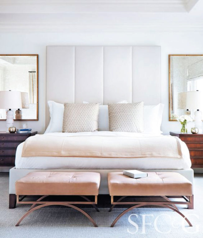 Luxury airy bedroom inspiration