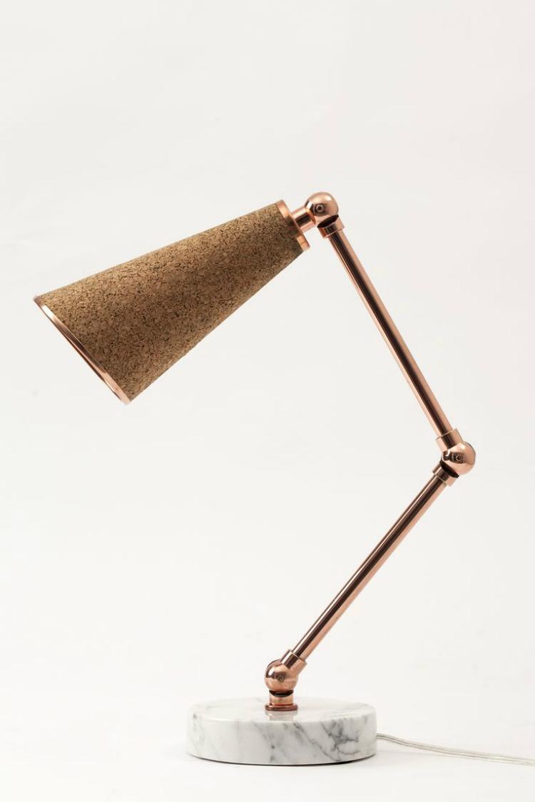 Cork desk lamp