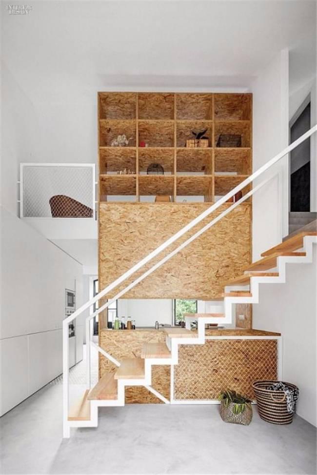 cork next to stairs