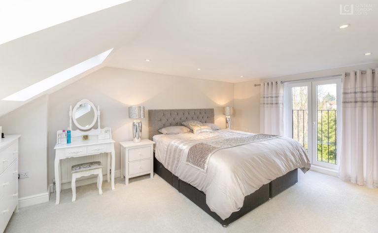 Romford Loft Conversion master ensuite bedroom